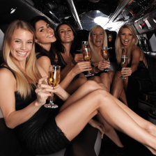 Limo party bus woman (1)